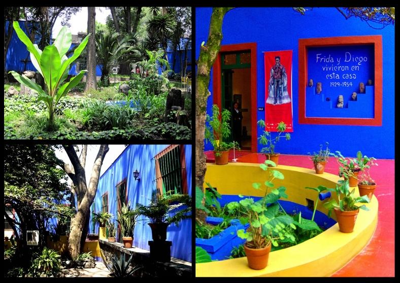 Casa-museo con azul garden di Frida Kahlo