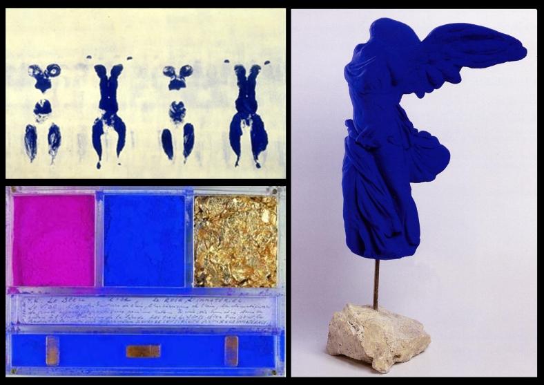 Selezione di opere di Yves Klein dal 1960 al 1962