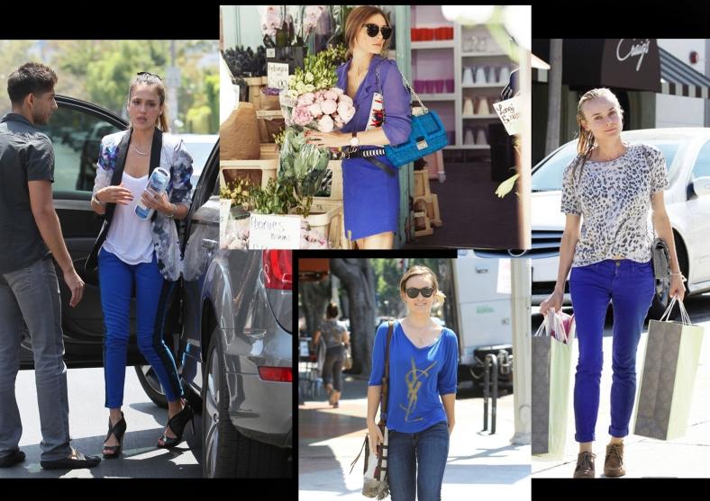 Le celebrities in blu