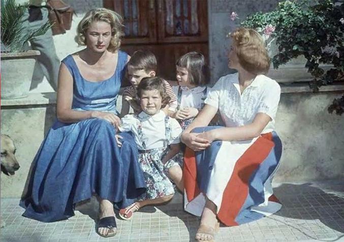 Ingrid Bergman con i figli
